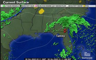Satalite image of a huricane near Atlanta